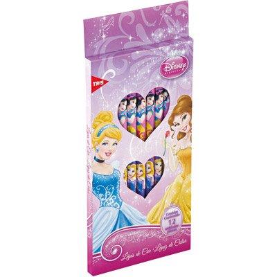 Lápis de Cor 12 cores sextavado Princesas 654232 Tris CX 1 UN