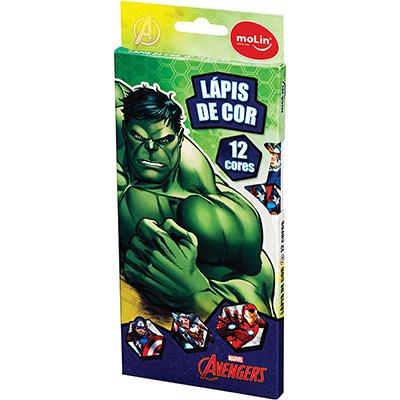 Lápis de Cor 12 cores Avengers sortido 22240 Molin CX 1 UN