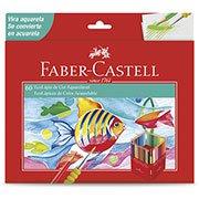Lápis de cor 60 cores Aquarelável c/pincel 120260 Faber Castell CX 1 UN