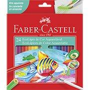 Lápis de cor 24 cores aquarelável sextavado 120224 Faber Castell PT 1 UN