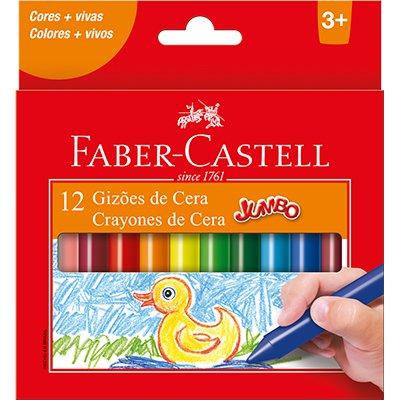 Giz de cera 12 cores gizão 141112N Faber Castell PT 1 UN