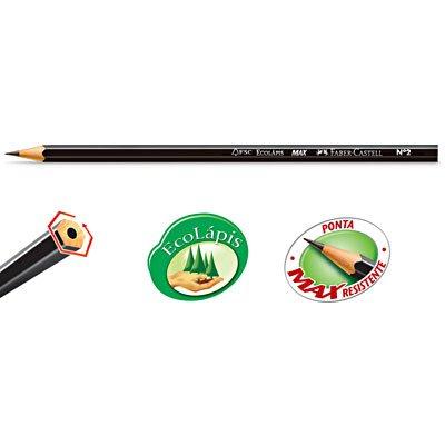 Lápis preto n.2 max sextavado1205SM/144 Faber Castell CX 12 UN