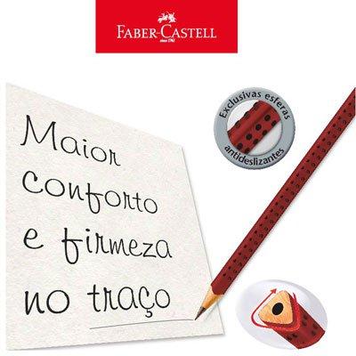 Lápis preto n.2 grip cereja triangular 2001BCER Faber Castell CX 12 UN