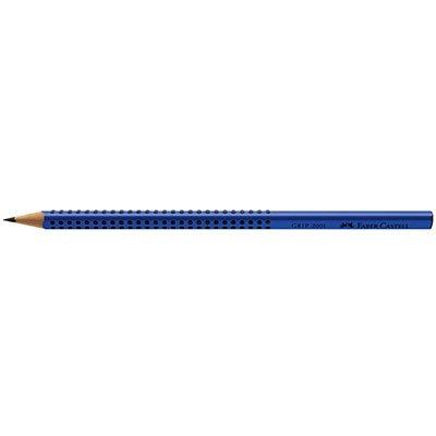 Lápis preto n.2 grip azul triangular 2001BAZP Faber Castell CX 12 UN