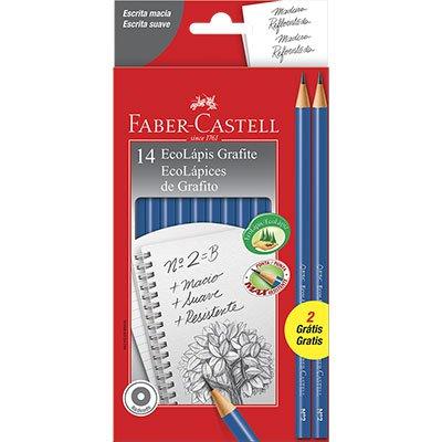 Lápis preto n.2 redondo +2 lápis PM1210AZ12 Faber Castell CX 12 UN