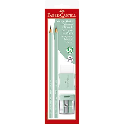 Lápis preto n.2 pastel verde triangular SM1205PASTELAPV Faber Castell BT 2 UN