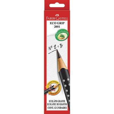 Lápis preto n.2 grip preto triangular 2001BPR Faber Castell CX 12 UN
