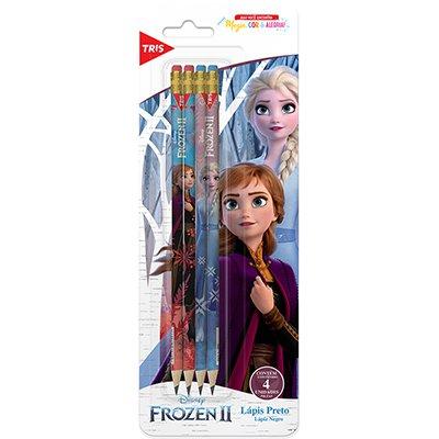Lápis preto n.2 c/borracha Frozen 679228 Tris BT 4 UN