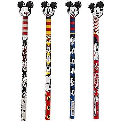 Lápis preto n.2 c/borracha ponteira Mickey sortido 22651 Molin BT 2 UN