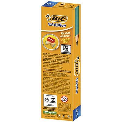 Lápis plástico preto evolution sextavado 835232 BIC CX 12 UN