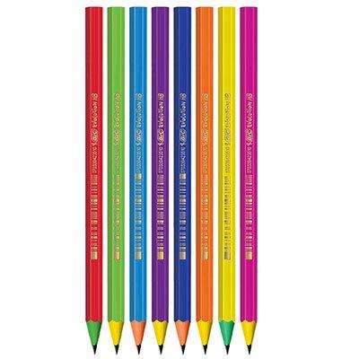 Lápis plástico preto Evolution Color sextavado 930017 BIC BT 12 UN