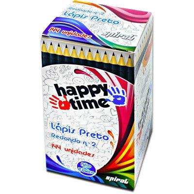 Lápis preto n.2 redondo HT Happy-time CX 144 UN
