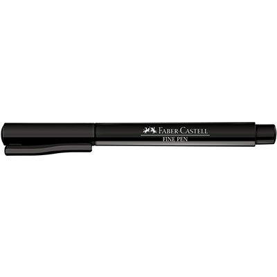 Caneta hidrográfica Fine Pen 0,4mm pt SM/FPBPRZF Faber Castell BT 1 UN