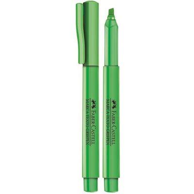 Pincel marca texto verde grifpen MT/VDZF Faber Castell CX 12 UN