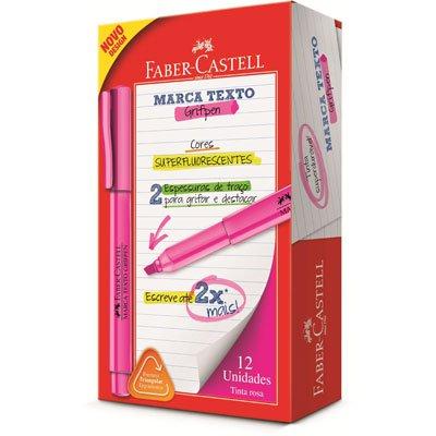 Pincel marca texto rosa grifpen MT/RSZF Faber Castell CX 12 UN