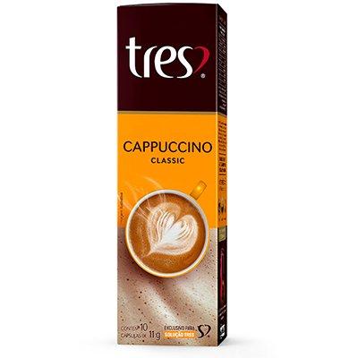 Cápsula de cappuccino classic Tres Coracoes Alimen CX 10 UN