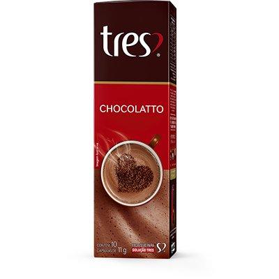 Cápsula de chocolatto Tres Coracoes Alimen CX 10 UN