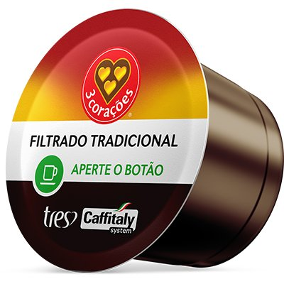 Cápsula de café filtrado classico Tres Coracoes Alimen CX 10 UN
