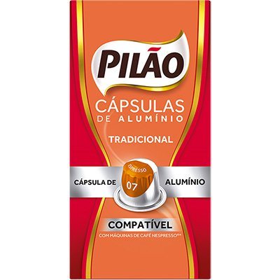 Cápsula de café Pilão para Nespresso 7 52g 4028658 Pilão CX 10 UN