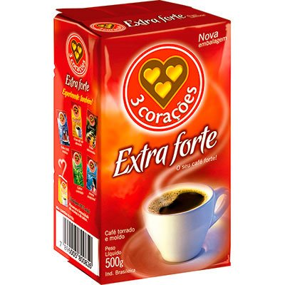 Café torrado e moído extra forte 500g Três Corações PT 1 UN