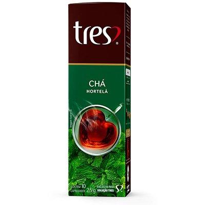 Cápsula de chá de hortelã Três Corações CX 10 UN