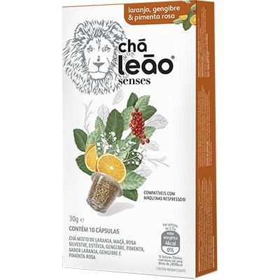 Cápsula de chá para Nespresso laranja 6674 Leão CX 10 UN
