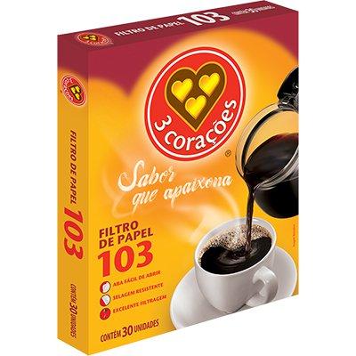 Filtro de café 103 Três Corações CX 30 UN