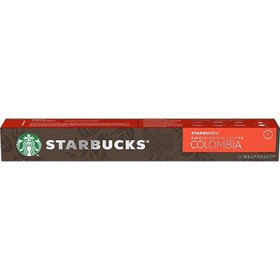 Cápsula de café Starbucks p/Nespresso Colombia Starbucks CX 10 UN