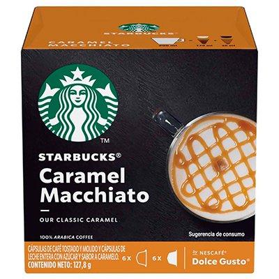 Cápsula de café Starbucks p/Dolce Gusto Caramel Macch Starbucks CX 12 UN