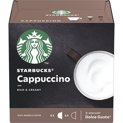 Cápsula de café Starbucks p/Dolce Gusto Cappuccino Starbucks CX 12 UN