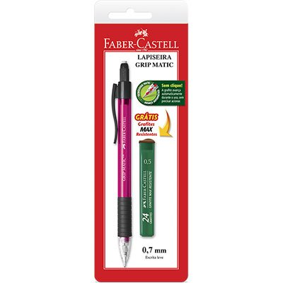 Lapiseira 0.7mm Grip Matic sortida SM07GMP Faber Castell CT 1 UN