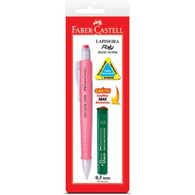 Lapiseira 0.5mm Poly Matic Super sortida SM05PMS Faber Castell CT 1 UN