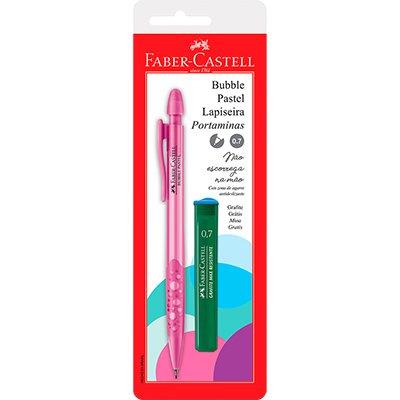 Lapiseira Bubble Pastel Rosa 0.7mm Ctl - Faber-Castell BT 1 UN