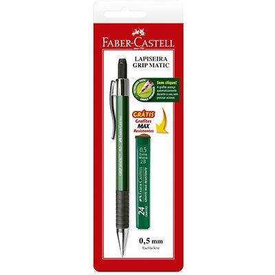 Lapiseira 0.5mm grip matic metal SM05GM Faber Castell BT 1 UN