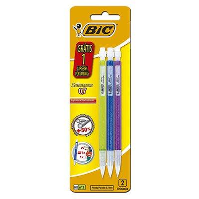 Lapiseira 0.7mm Shimmers c/1 lapiseira grátis 891945 BIC BT 3 UN
