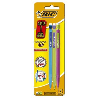 Lapiseiras 0,9mm Shimmers c/1 lapiseira grátis (Cores sortidas) 891947 Bic BT 3 UN