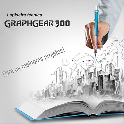 Lapiseira 0.7mm graphgearazul SM/PG317S- Pentel CX 1 UN