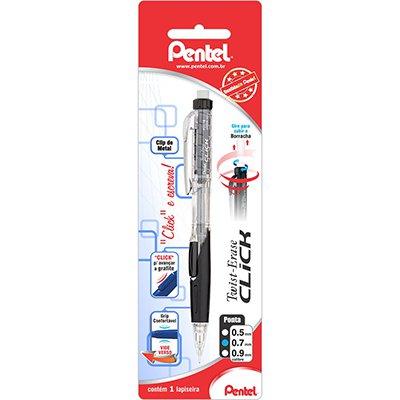 Lapiseira 0.7mm Twist Eraser Click Preta, SM-PD277-A6 - Pentel BT 1 UN