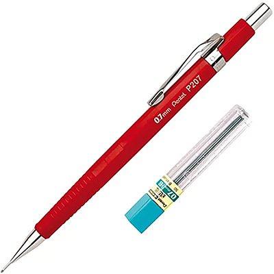Lapiseira 0.7mm Vermelha + 1 Tubo de Grafite, SM-P207-FRM6 - Pentel BT 1 UN