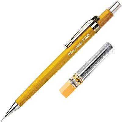 Lapiseira 0.9mm Amarela + 1 Tubo de Grafite, SM-P209-GM6 - Pentel BT 1 UN