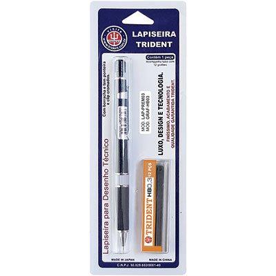 Lapiseira 0.3mm Premium preta LAP-PREM03 Trident BT 1 UN