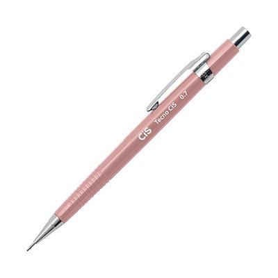 Lapiseira 0.7mm técnica TecnoCis +1 mina de grafite rosa Cis BT 1 UN
