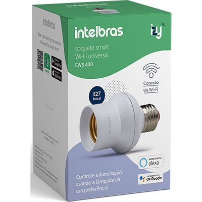 Interruptor inteligente soquete Wifi e27 ews 400 4850004 Intelbras CX 1 UN