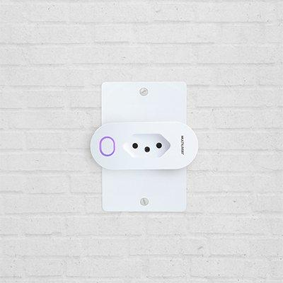 Adaptador de tomada Smart Plug wi-fi Liv SE231 Multilaser CX 1 UN
