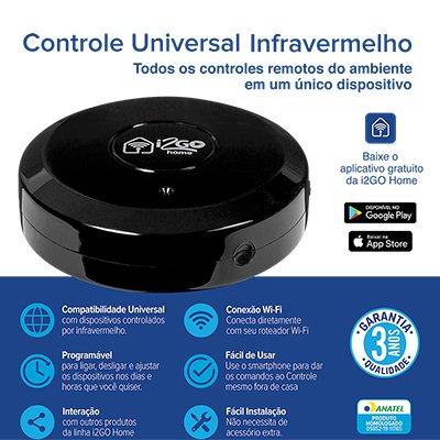 Controle Universal IR Smart wi-fi I2GOTH717 I2Go CX 1 UN