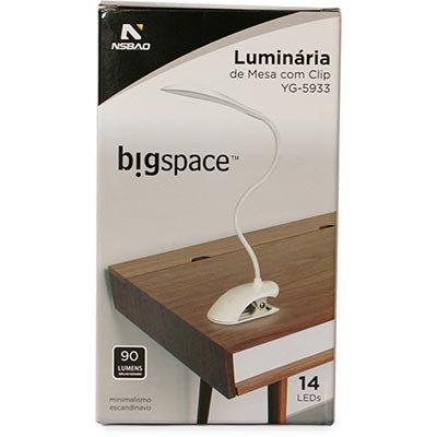 Luminária de mesa USB 14 LEDs 90 lumens 5933 Nsbao CX 1 UN