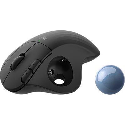Mouse sem fio Trackball Ergo, M575, Preto, 910-005869 Logitech - CX 1 UN