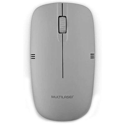 Mouse sem fio 2,4Ghz USB cinza MO287 Multilaser PT 1 UN