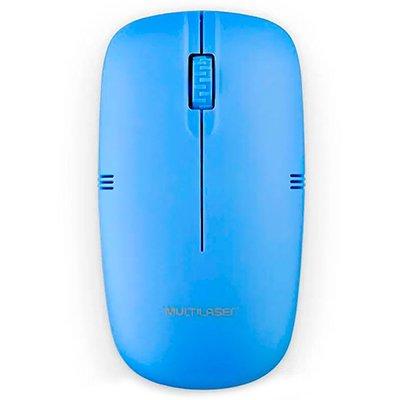 Mouse sem fio 2,4Ghz USB azul MO288 Multilaser PT 1 UN