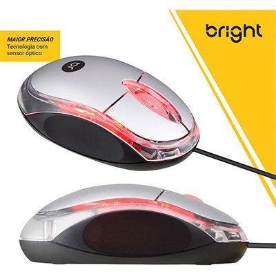 Mouse óptico usb Espanha prata 0107 Bright BT 1 UN